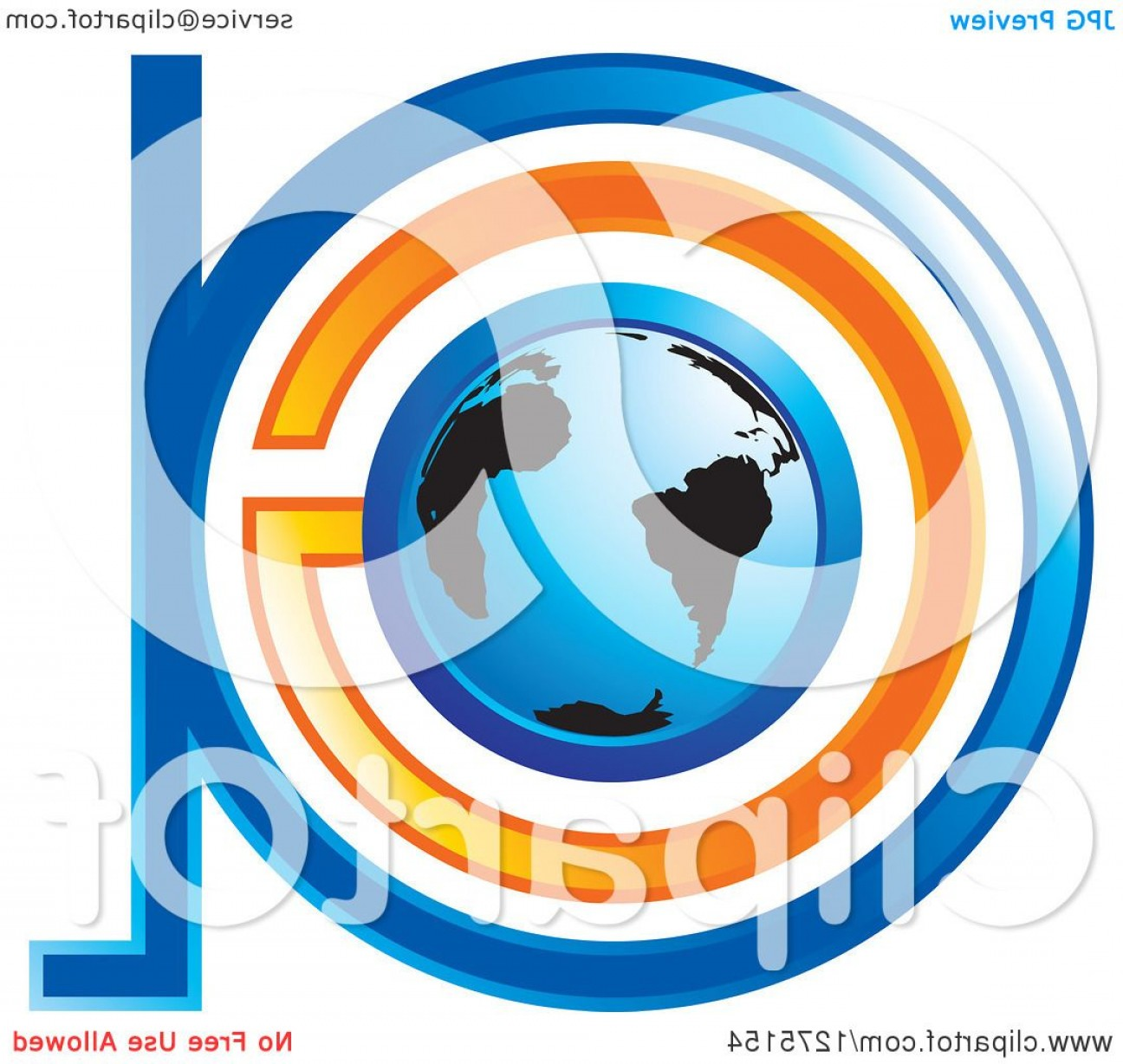 Globe Vector Clip Art Transparent Orange: Blue And Orange Globe And Abstract Ga Logo