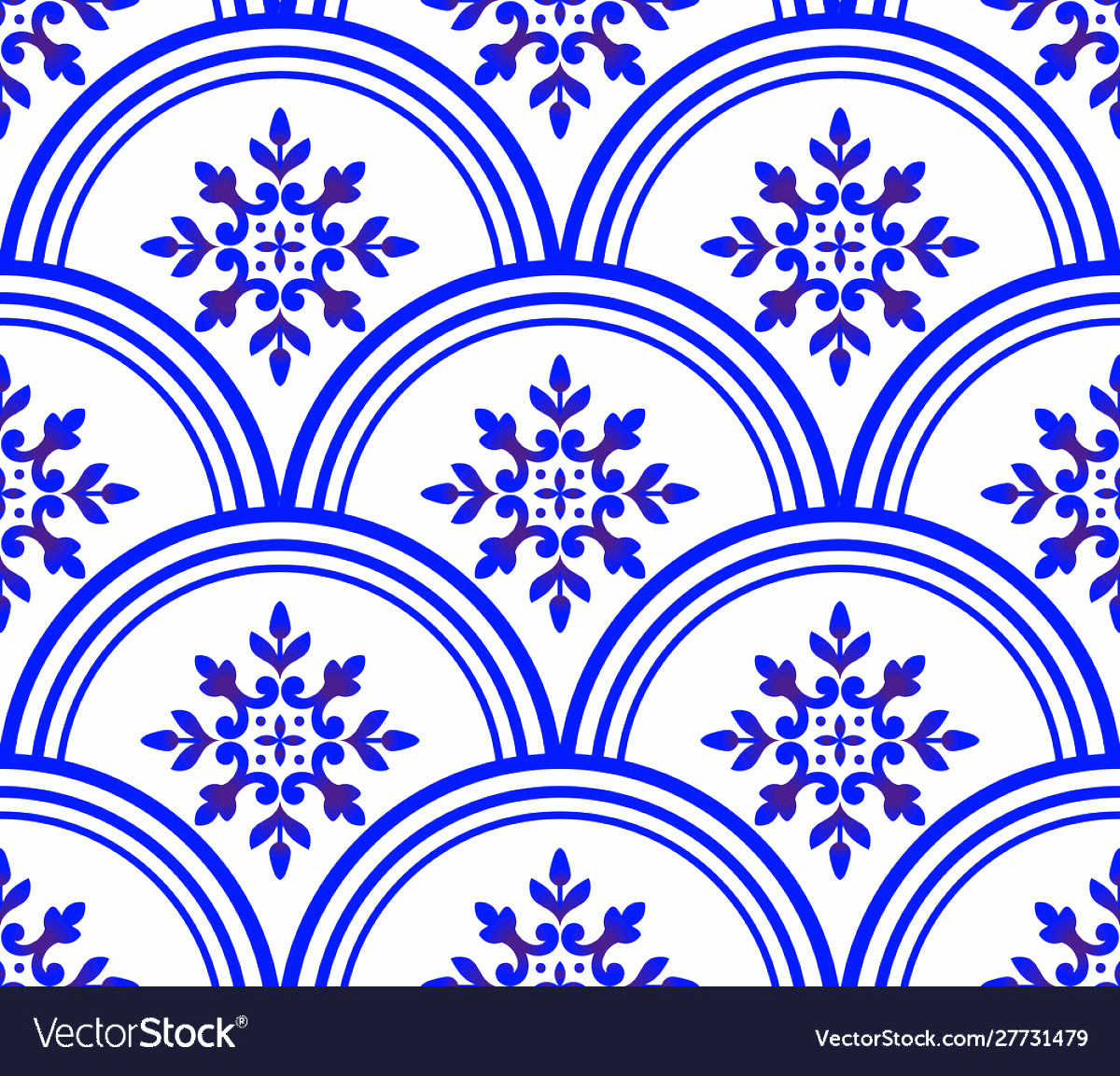 Blue And White Damask Vectors: Blue And White Damask Wallpaper Vector