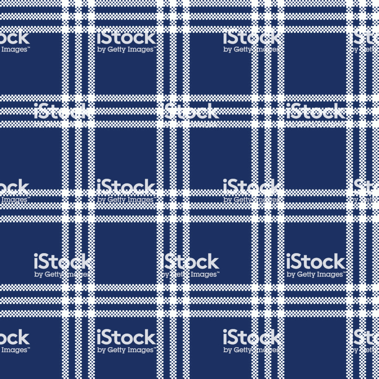 Plaid Vector: Blue And White Plaid Pattern Vector Seamless Pixel Tartan Check Plaid For Fashion Gm