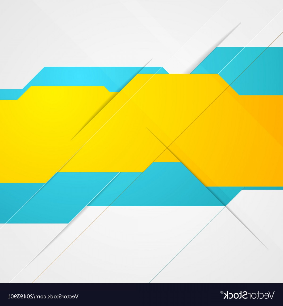Backgroung Vector: Blue And Yellow Abstract Tech Background Vector