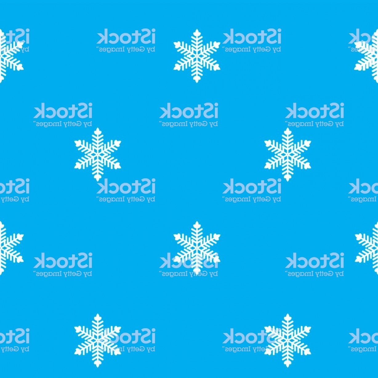 White Snowflake Vector Art: Blue Background With White Snowflakes Gm