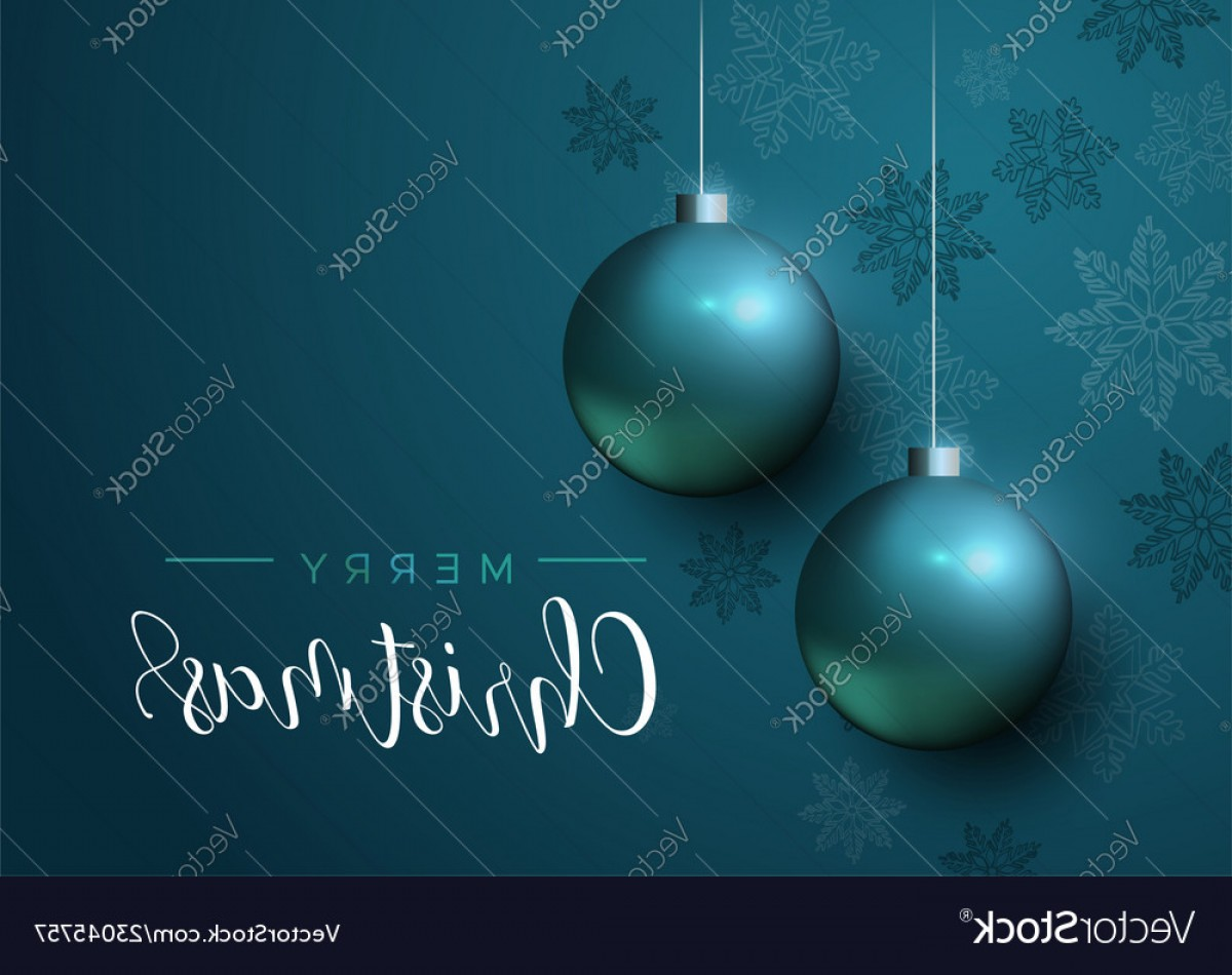 Vector Blue Luxury: Blue Christmas Baubles Luxury Greeting Card Vector