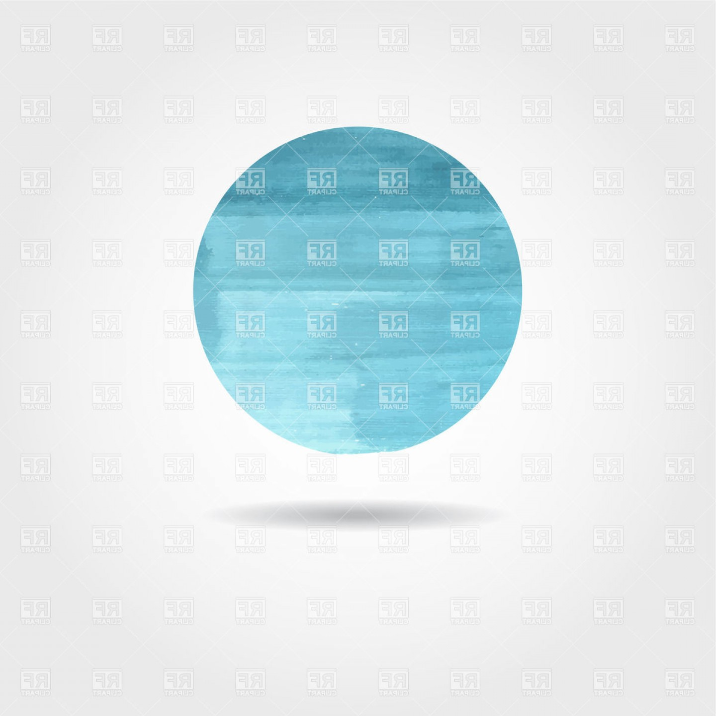 Watercolor Vector Free Designs: Blue Circle Painted With Blue Watercolor Vector Clipart