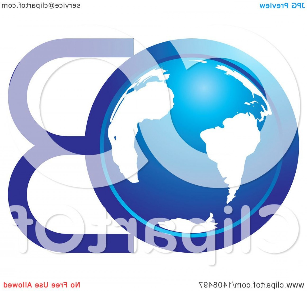 Globe Vector Clip Art Transparent Orange: Blue Earth Globe And Letters O B