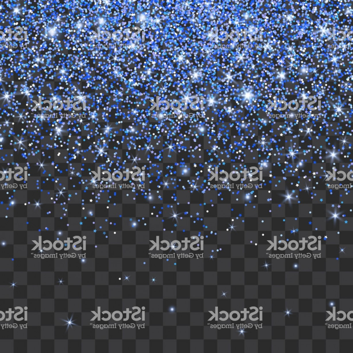 Twinkle Light Vector: Blue Glitter Sparkle On A Transparent Background Vibrant Background With Twinkle Gm