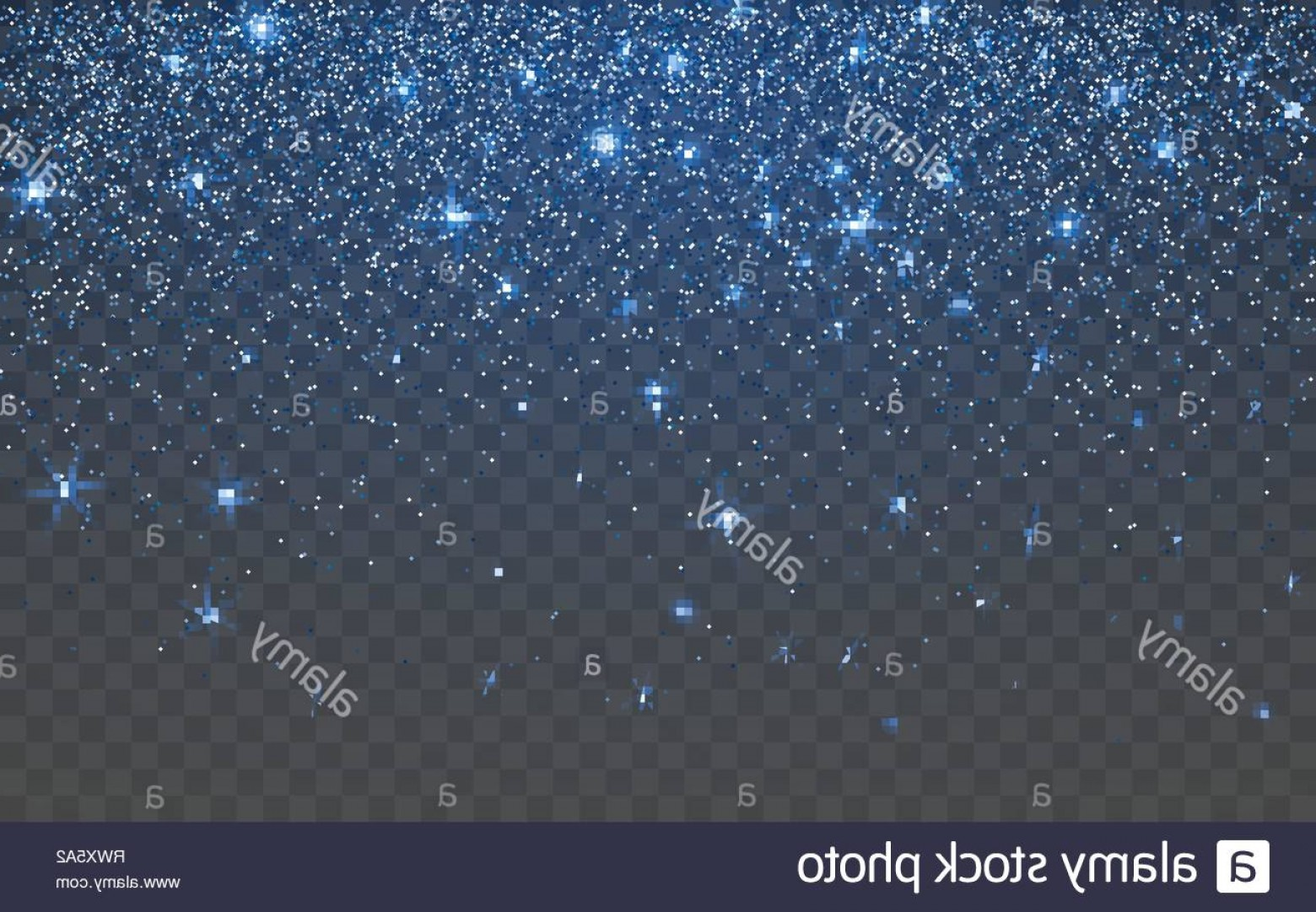 Twinkle Light Vector: Blue Glitter Sparkle On A Transparent Background Vibrant Background With Twinkle Lights Vector Illustration Image