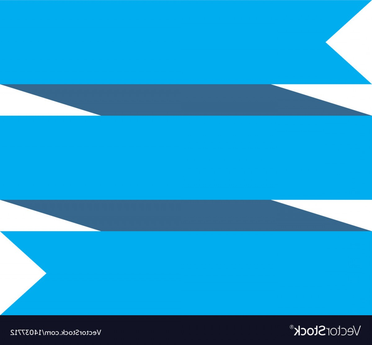 Blue White Background Vector: Blue Ribbon Banner On White Background Blue Vector