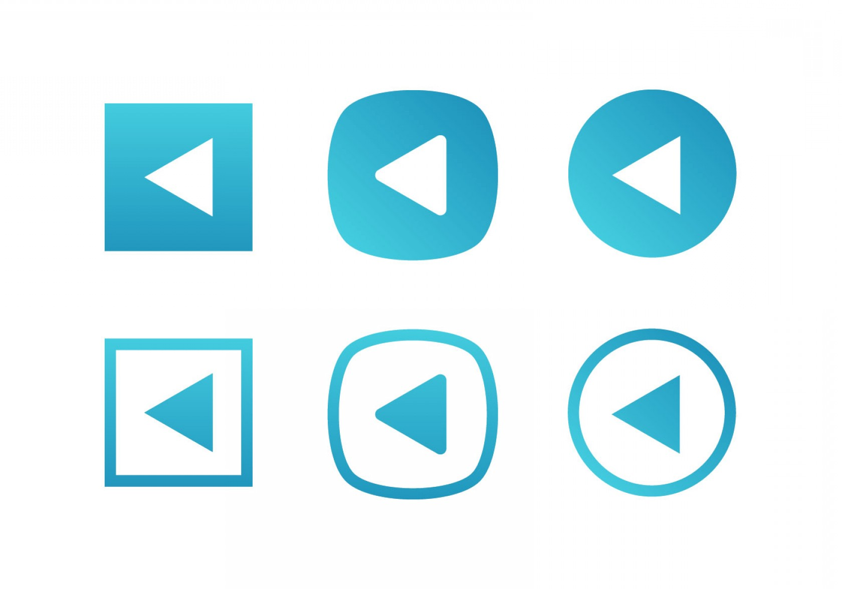 Contact Button Icons Vector Free: Blue Set Of Play Button Vector Icons Free