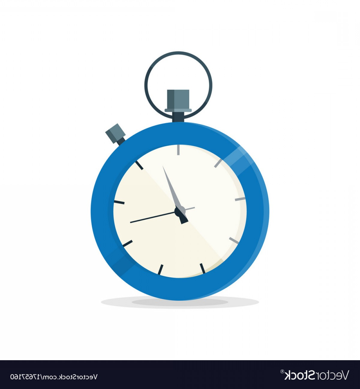 Stop Watch Vector Ai File: Blue Stopwatch Clock Watch Vector