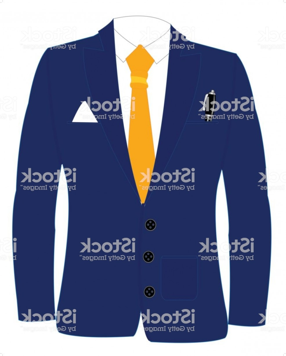 Gas Mask Suit And Tie Vector: Blue Suit And Tie Gm