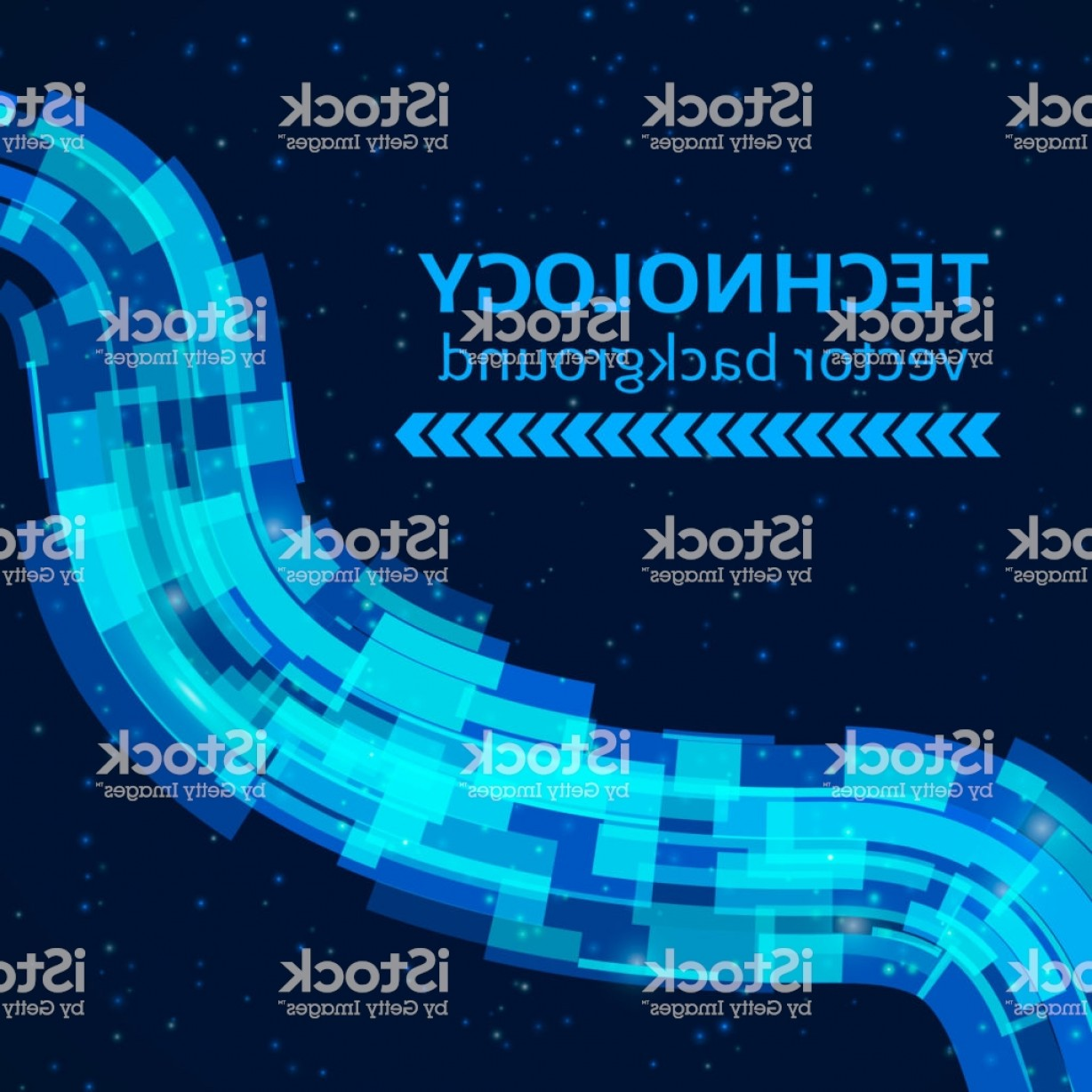 Blue Technology Vector Illustration: Blue Technology Abstract Background Cosmic Vector Illustration Easy To Edit Design Gm