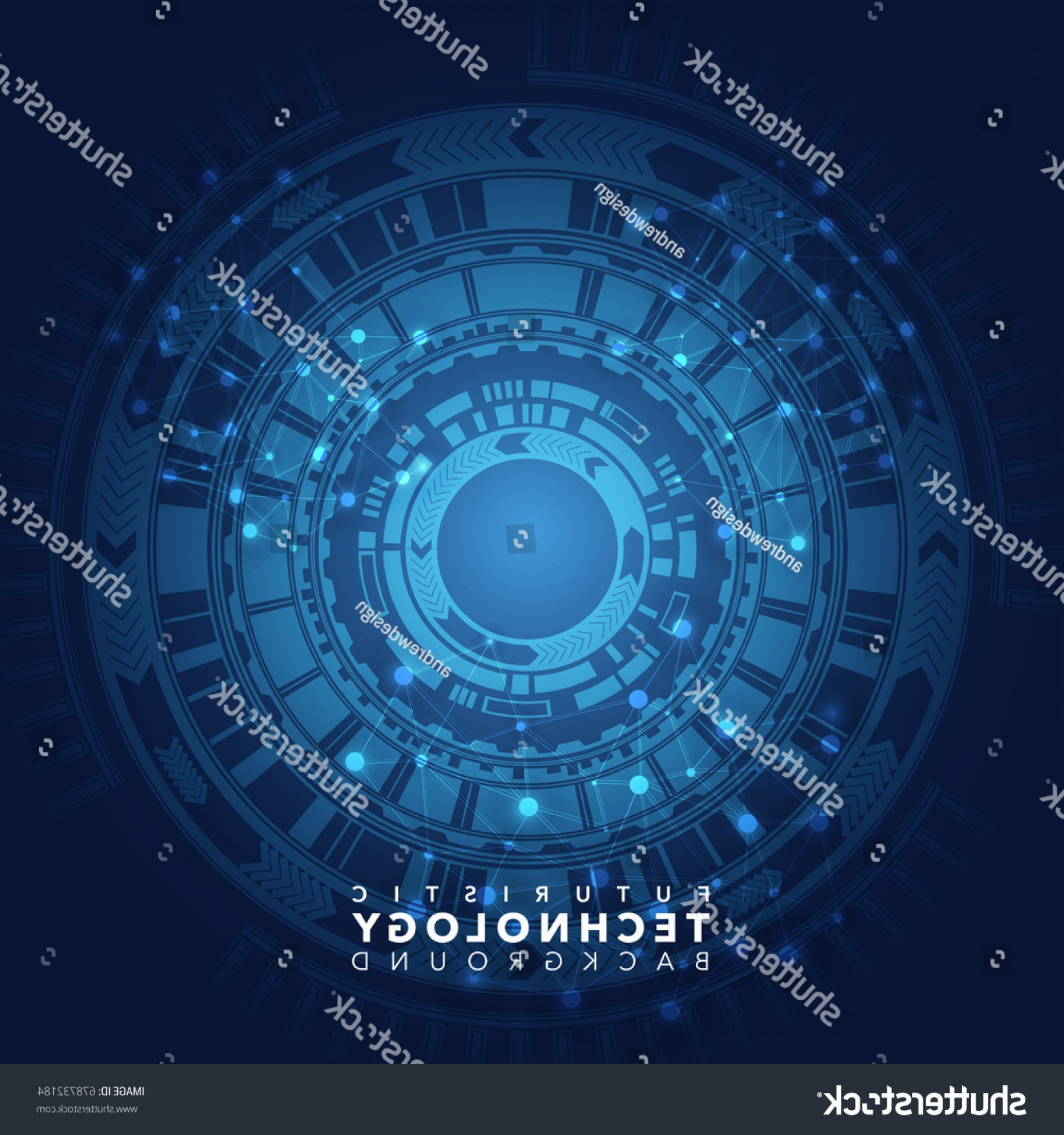 Blue Technology Vector Illustration: Blue Technology Vector Abstract Background