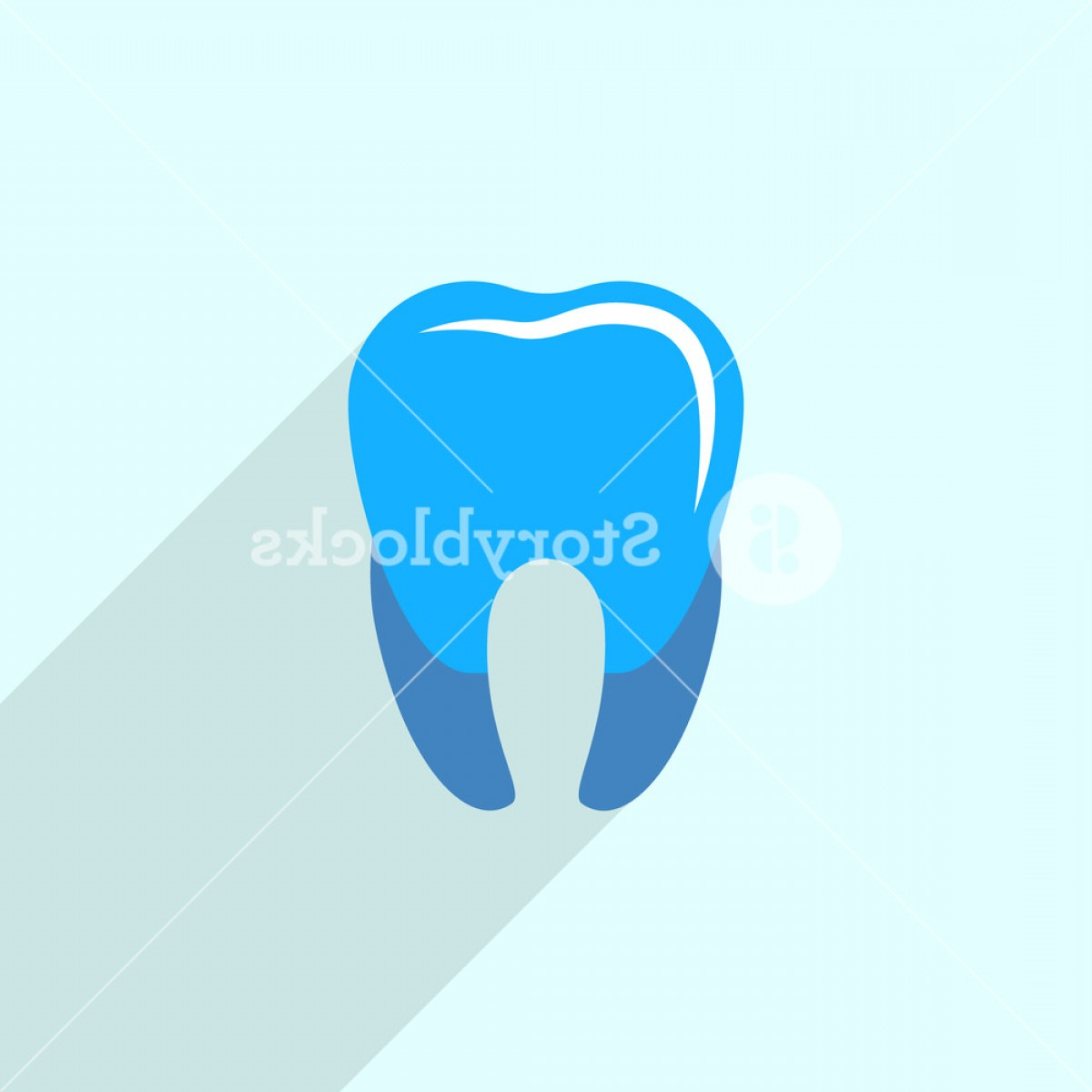 Tooth Vector Logo: Blue Tooth Logo Icon Flat Illustration Of Blue Tooth Vector Logo Icon For Web Design Hzexrxcrhaqjoufyv