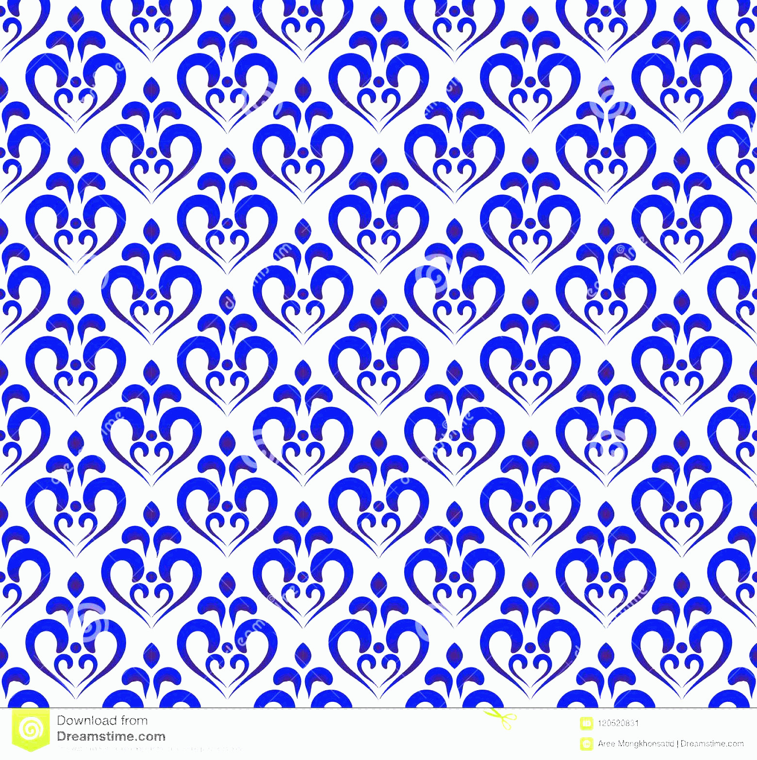 Blue And White Damask Vectors: Blue White Damask Pattern Abstract Floral Ornament Backdrop Style Seamless Royal Baroque Background Design Porcelain Image