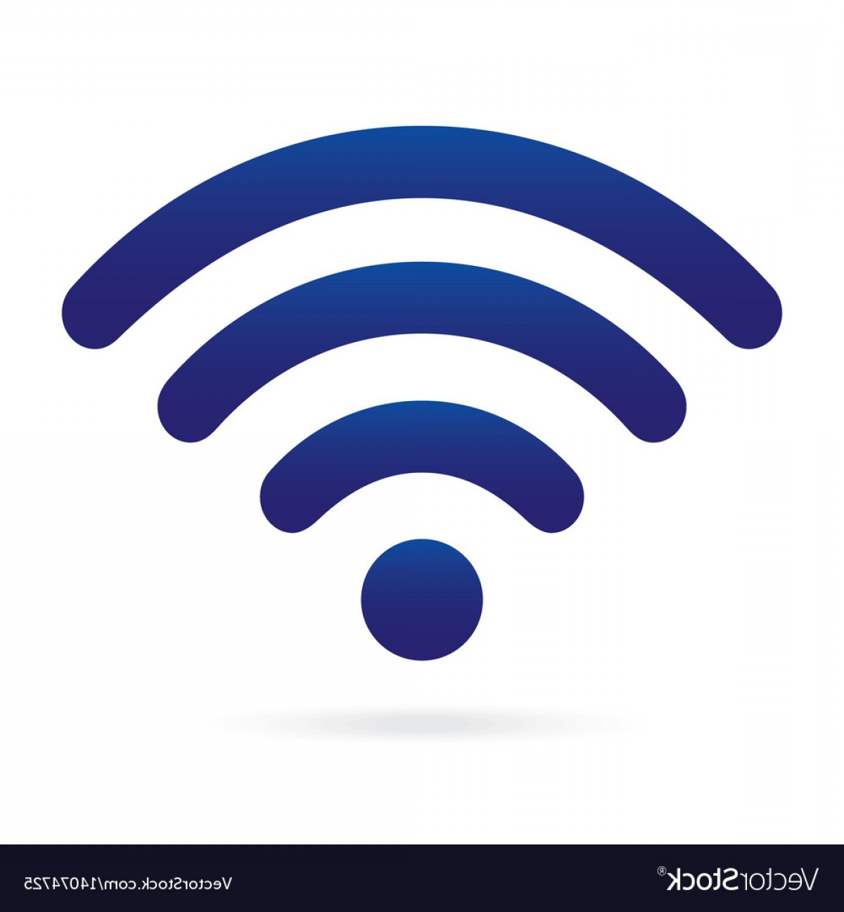 Wi-Fi Logo Vector: Blue Wifi Icon Wireless Symbol On Isolated Vector