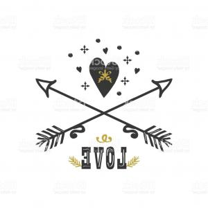 Love With Arrows Vector: Valentine Day Set Of Red Arrows Dividers And Calligraphic Elements Gm