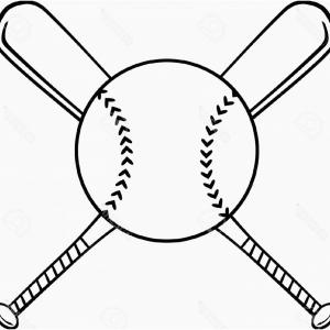 Sport Vector Art Games: Black And White Baseball Diamond Vector Art