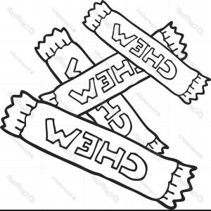 Black And White Candy Vector: Black And White Cartoon Chew Candy