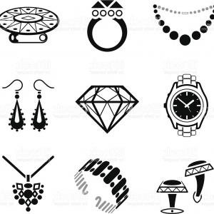 Jewelry Vector Line Art: Jewelry And Gemstones Line Vector Icons Luxury Concept For Jewelry Store Gm