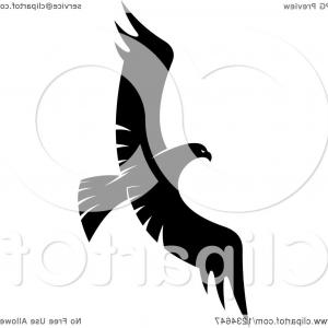 Falcon Silhouette Vector: Stock Illustration Falcon Standing Rock Silhouette