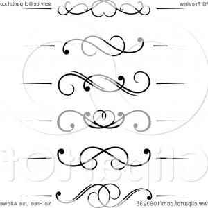 Free Flourish Frame Vector: Black And White Flourish Borders Digital Collage
