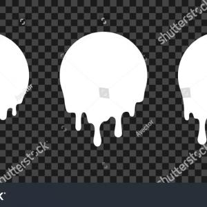 Melting Black & White Vector: Black And White Melting Ice Cream Balls In The Vector