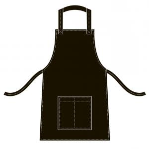Apron Vector: Black Striped Kitchen Apron Vector Isolated