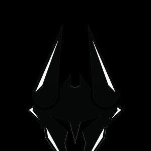 Reddit Vector Black Graphic: Black Helmet Team Submit Logo Design