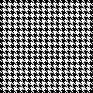 Houndstooth Vector: Black Houndstooth Pattern Classical Vector