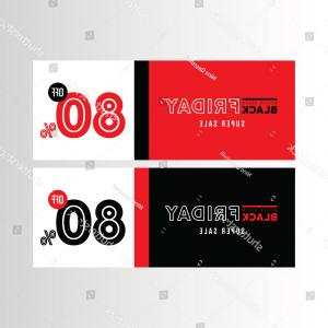 Facebook Vector Black: Black Red Banner Design Friday Sale
