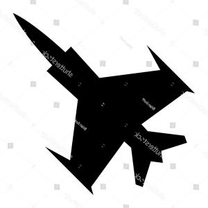 X-Wing Fighter Vector: Black Silhouette Military Flying Fighter Jet