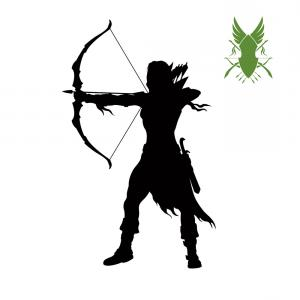 Vector Archery Silhouette: Archer Vector Silhouettes On White Background
