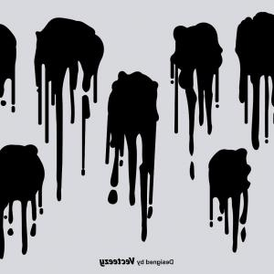 Dripping Paint Vector Illustration: Poster Life Wonderful Multicolor Dripping Paint