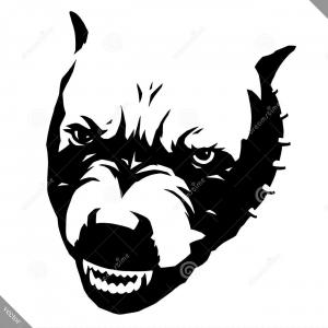 Angry Dog Vector Black And White: Black White Linear Paint Draw Dog Vector Illustration Black White Linear Draw Dog Vector Illustration Image