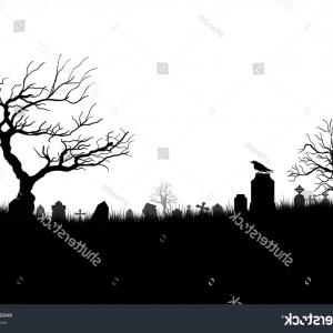 Gravestone Black And Whit Vector JPEG: Black White Silhouettes Tombstones Crosses Gravestones