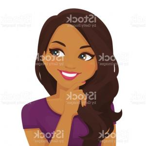 Black Woman Stock Vector: Stock Illustration Cute Young African American Office Woman Chair Vector Illustration Cartoon Style Image