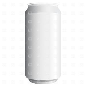 Can Vector: Aluminum Beer Can Icon Gray Monochrome Style Vector