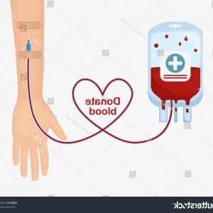 Charity Meter Vector: Stock Illustration Blood Drop Donation D People Man Health Care Medicine Concept Image Logo Vector Template Image