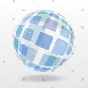 Abstract Vector Art Globe TV: Globe In Retro Tv Vector