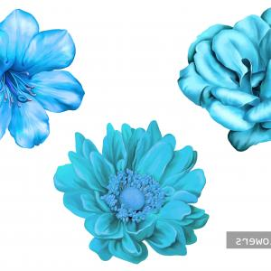 Turquoise Flower Vector: Business Template Turquoise Flower Vector Illustration