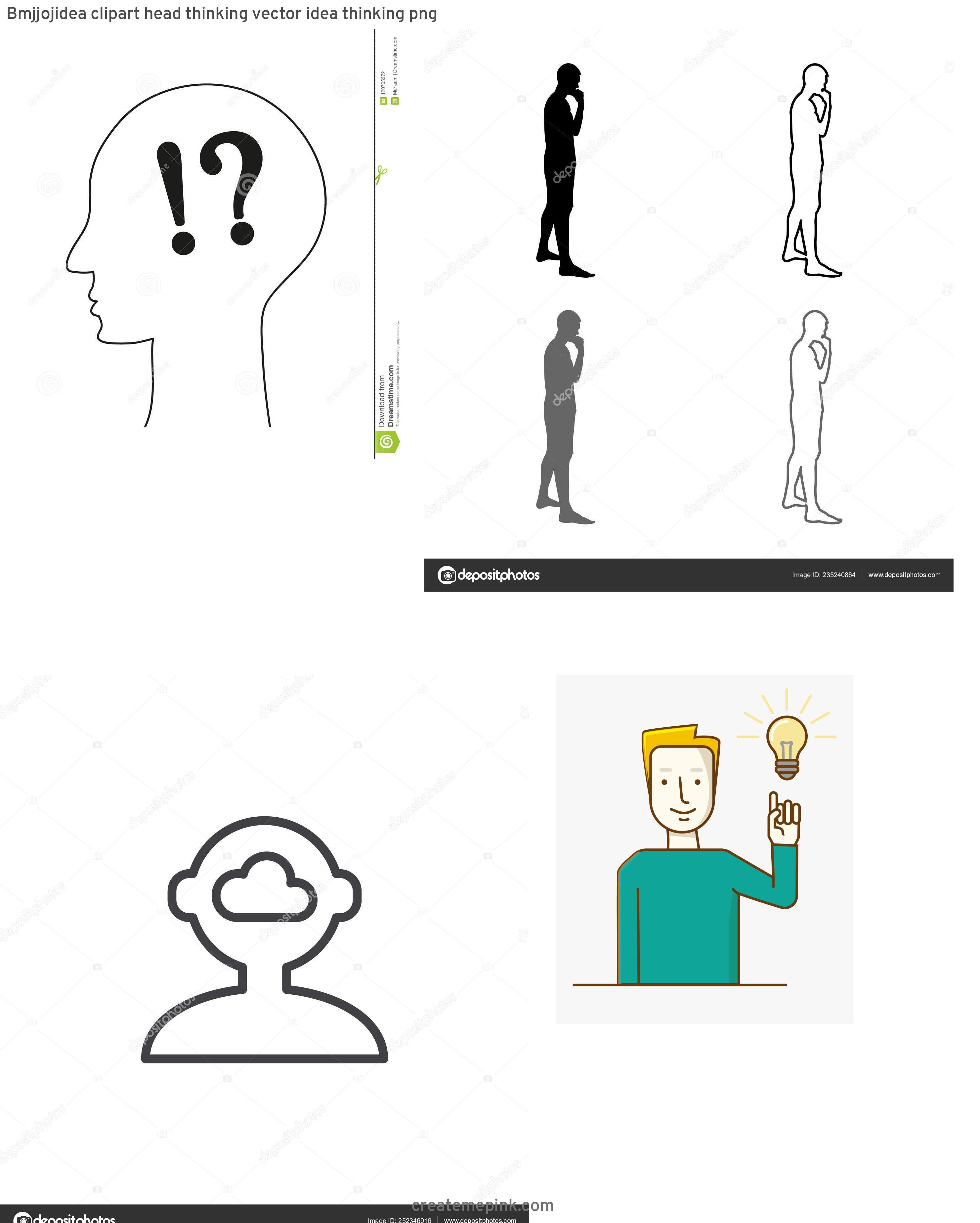 Person Thinking Outline Vector: Bmjjojidea Clipart Head Thinking Vector Idea Thinking Png