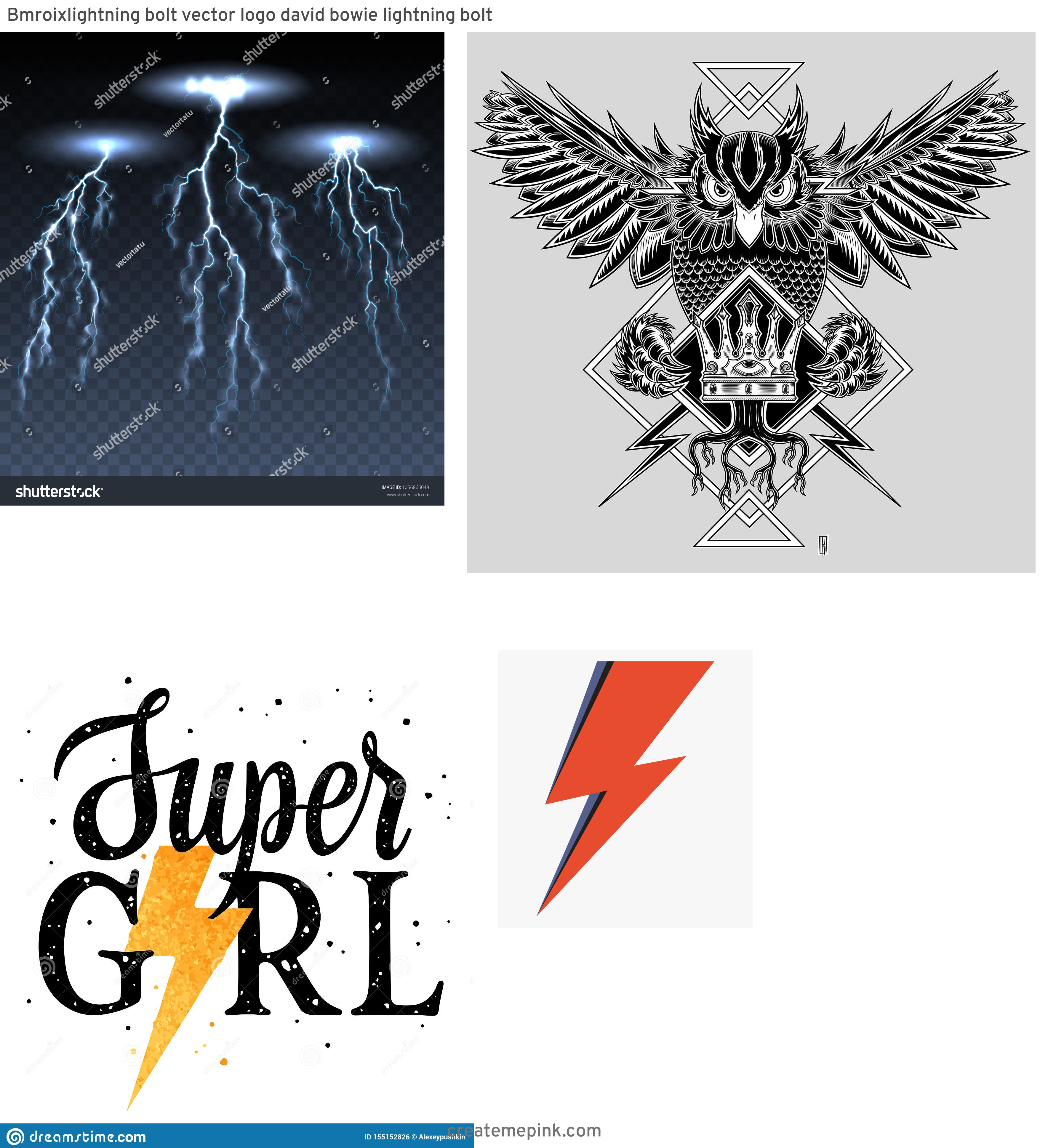 Lightning Vector T: Bmroixlightning Bolt Vector Logo David Bowie Lightning Bolt