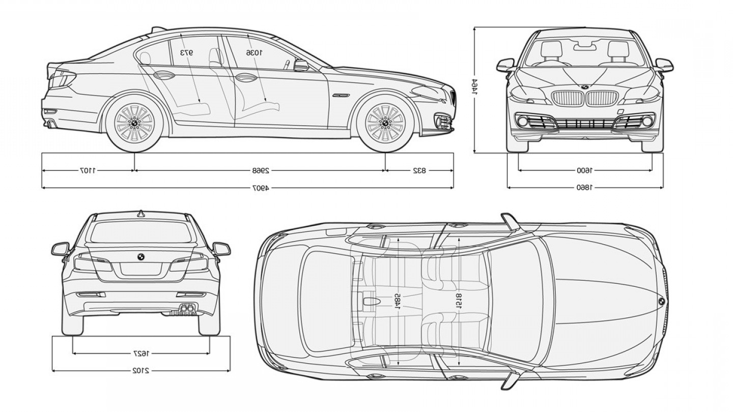 BMW F10 Vector Art: Bmw Serie Dimensions Luxe