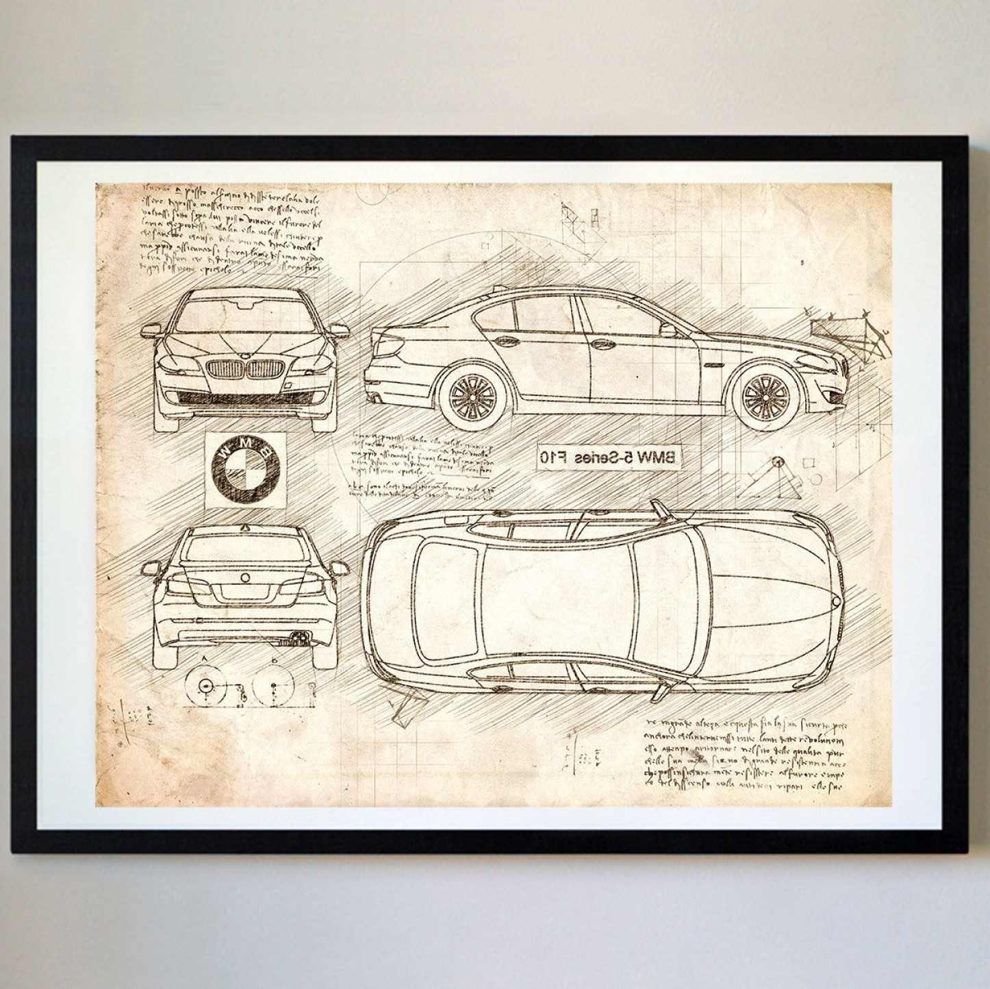 BMW F10 Vector Art: Bmw Series F Da Vinci Sketch