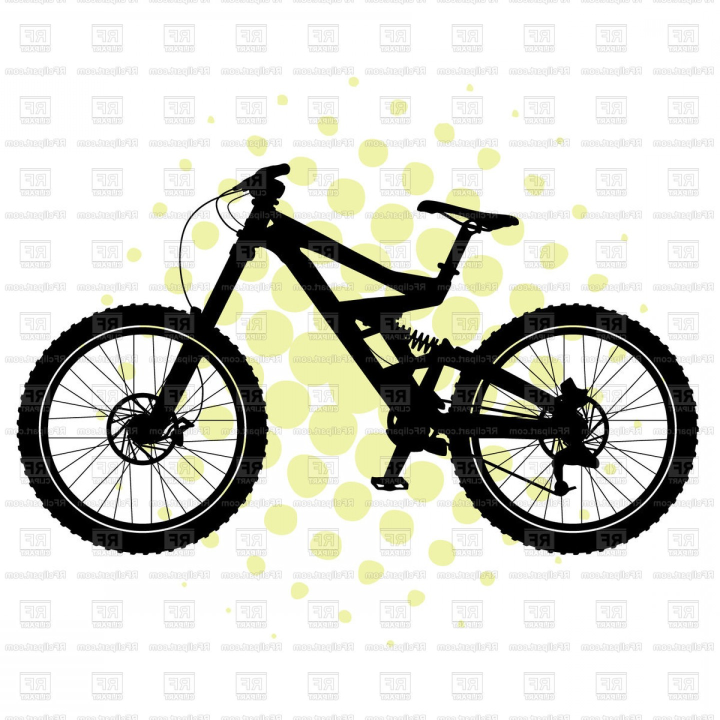BMX Bike Tire Vector: Bmx Bicycle Silhouette Vector Clipart