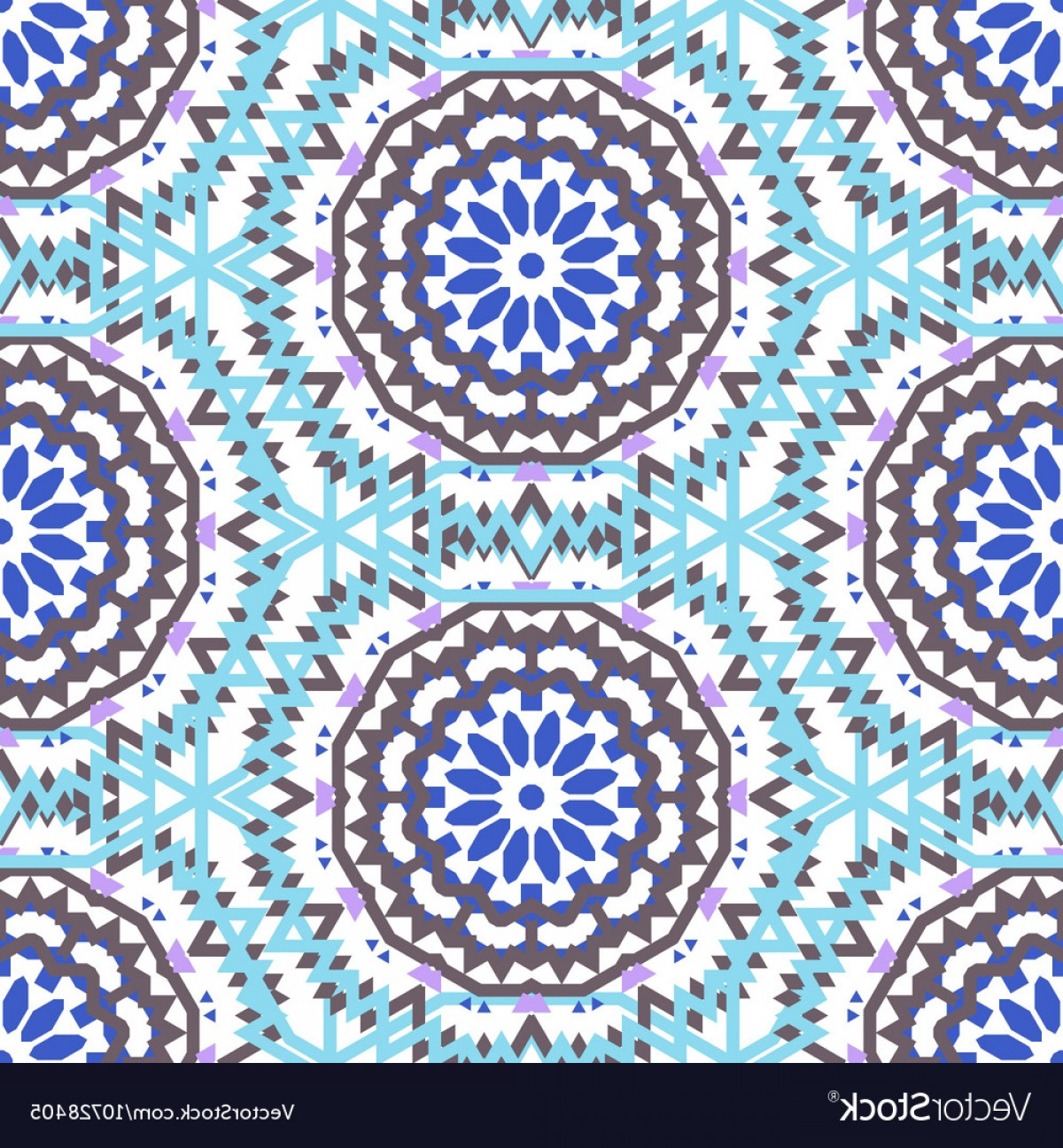 Bohemian Flowers Vector: Bohemian Pattern With Big Abstract Flowers Vector