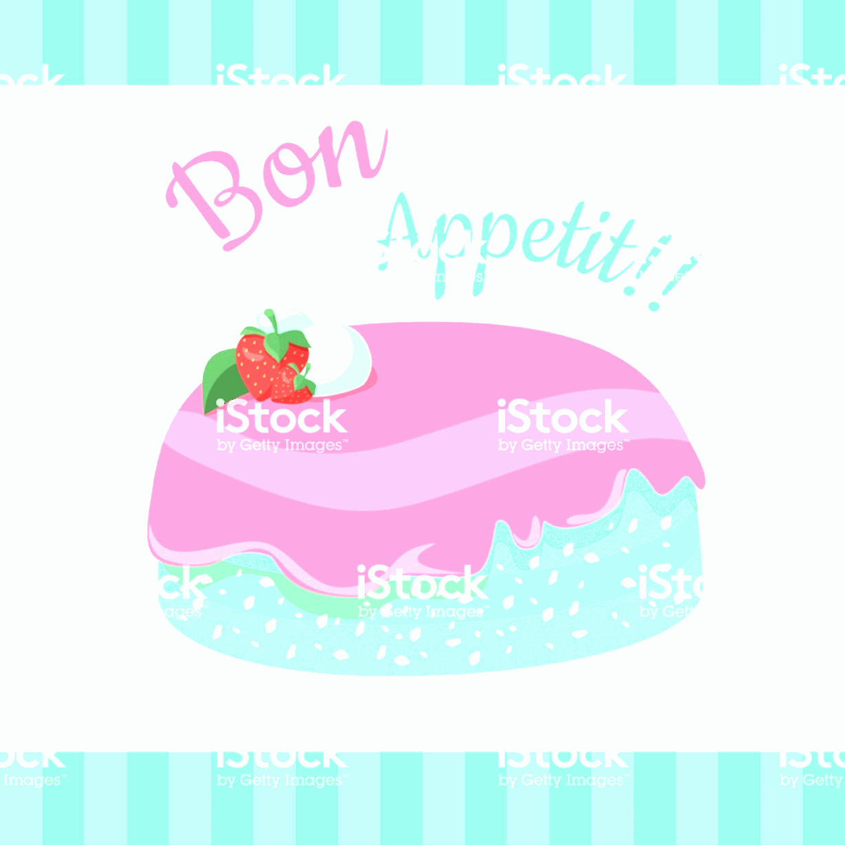 Vector Abstract Art Cake: Bon Appetit Festive Cake Web Banner Chocolate Gm