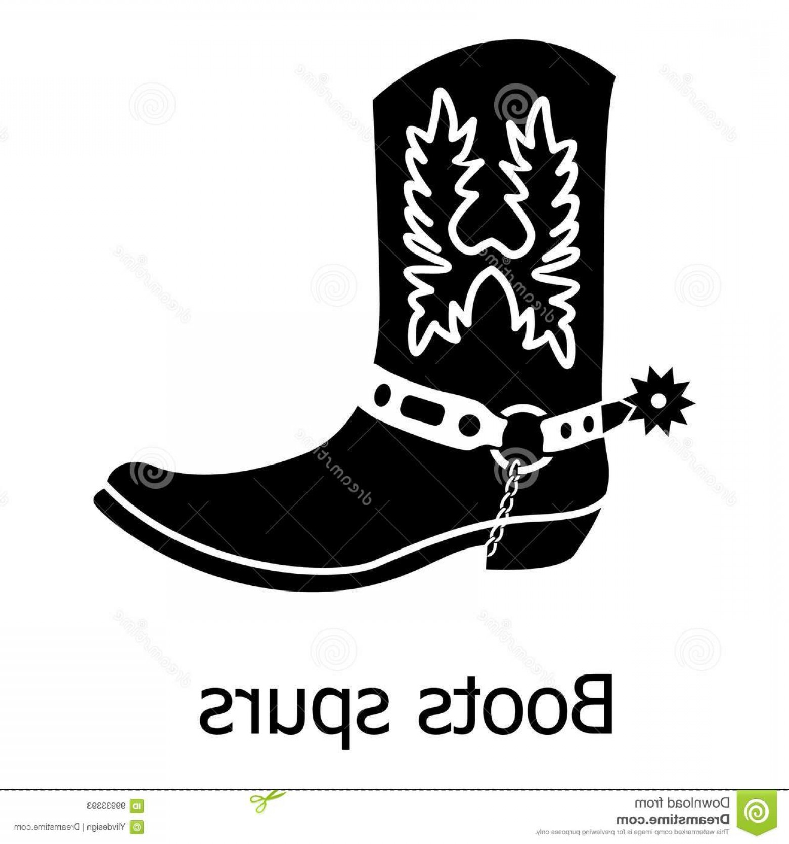 Spurs Clip Art Vector: Boot Spurs Icon Simple Illustration Boot Spurs Vector Icon Web Boot Spurs Icon Simple Black Style Image