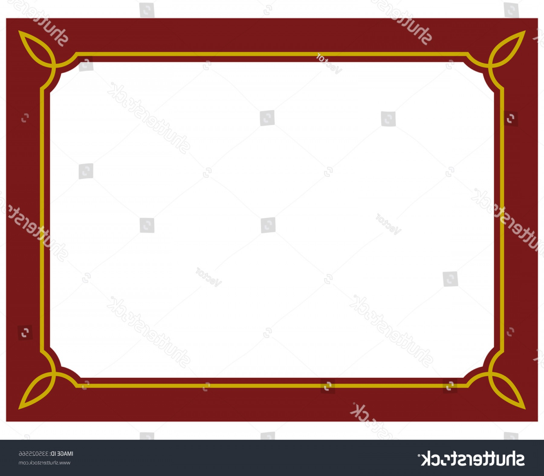 Simple Red Corner Vectors: Border Frame Red Deco Plaque Vector