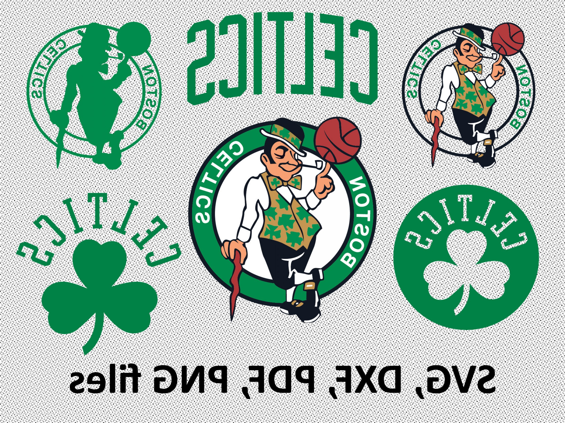 Vector NBA LogoArt: Boston Celtics Svg Dxf Pdf Png Clipart